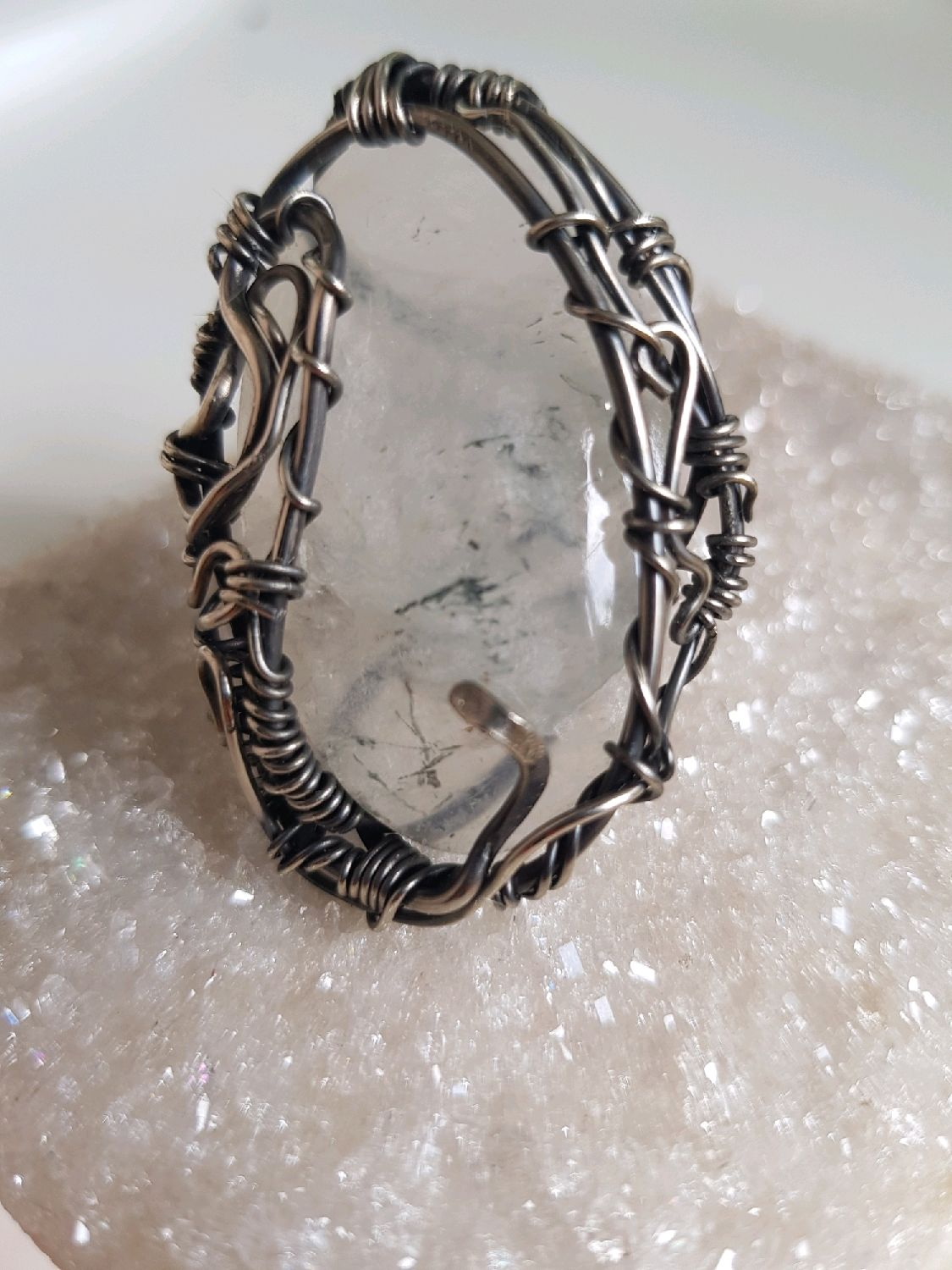 Ring with icy quartz, Rings, Voronezh,  Фото №1