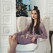 """Одежда ручной работы. Ярмарка Мастеров - ручная работа Платье """"Серебро"""" розовое. Handmade."""