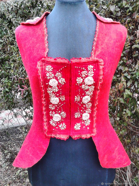 Felted vest 'Temptation', Vests, Yeisk,  Фото №1