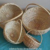 Для дома и интерьера ручной работы. Ярмарка Мастеров - ручная работа Лукошко ( корзина круглая). Handmade.