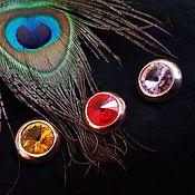 Материалы для творчества handmade. Livemaster - original item Buttons-rhinestones18 mm Golden. Handmade.