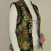 """Одежда ручной работы. Ярмарка Мастеров - ручная работа Жилетка из павловопосадского платка """"Признание"""". Handmade."""