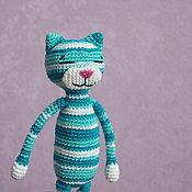 Мягкие игрушки ручной работы. Ярмарка Мастеров - ручная работа Полосатый Аминеко. Handmade.