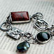 Украшения ручной работы. Ярмарка Мастеров - ручная работа Браслет серебро из камней серебряный браслет женский из серебра. Handmade.