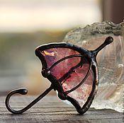 """Украшения ручной работы. Ярмарка Мастеров - ручная работа Брошь """"Розовый зонтик"""" стекло. Handmade."""