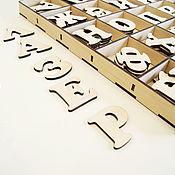 Кукольная еда ручной работы. Ярмарка Мастеров - ручная работа Алфавит развивающий в коробке. Handmade.