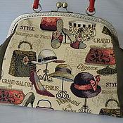 Valise handmade. Livemaster - original item Handbag the bag on the clasp. Handmade.