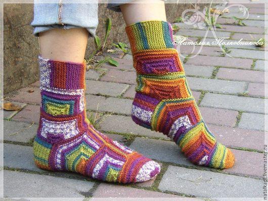 """Носки, Чулки ручной работы. Ярмарка Мастеров - ручная работа. Купить носки """"Осень"""". Handmade. Шерсть 100%, Носки шерстяные"""