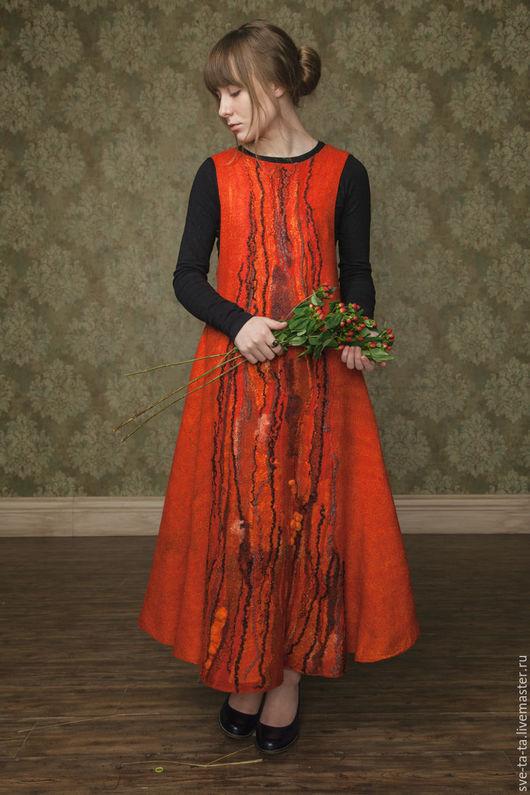 """Платья ручной работы. Ярмарка Мастеров - ручная работа. Купить Платье """"Горькая ягода"""" войлок, нуно-фельт. Handmade."""