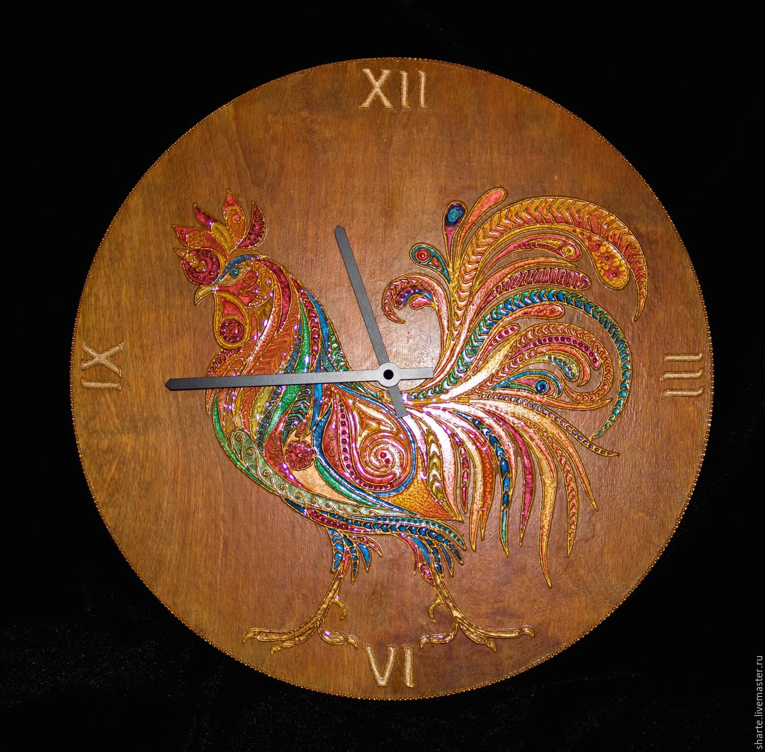 Wall clock of Flaming cock, Watch, Moscow, Фото №1