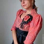 """Одежда ручной работы. Ярмарка Мастеров - ручная работа """"Royal Coral"""" нарядное валяное платье. Handmade."""