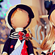 Куклы тыквоголовки ручной работы. Интерьерные куклы   Грей и Асоль. Нина Аникина. Интернет-магазин Ярмарка Мастеров. Морская тема