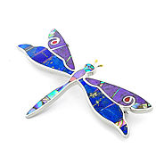 Украшения handmade. Livemaster - original item brooch Dragonfly. Brooch with lapis lazuli, charoite, mother of pearl, coral.. Handmade.