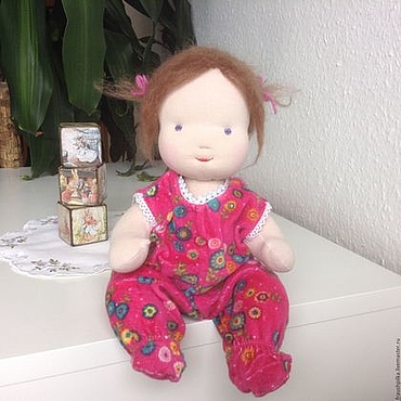 Куклы и игрушки ручной работы. Ярмарка Мастеров - ручная работа Вальдорфская кукла Тонечка. Handmade.