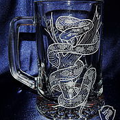 Посуда handmade. Livemaster - original item Anaconda. Beer mug.. Handmade.