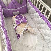 Работы для детей, ручной работы. Ярмарка Мастеров - ручная работа Комплект бортиков для детской кроватки и на выписку. Handmade.