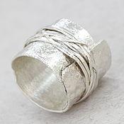 Кольца ручной работы. Ярмарка Мастеров - ручная работа Широкое кольцо серебро, мужское кольцо , кольцо унисекс. Handmade.