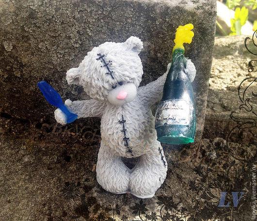 """Мыло ручной работы. Ярмарка Мастеров - ручная работа. Купить Мыло для рук """"Тедди с шампанским и бокалом"""". Handmade. Тедди, для детей"""