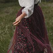 Одежда handmade. Livemaster - original item Skirt in flower tulle. Handmade.