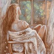 Картины и панно handmade. Livemaster - original item She is painting with pastels. Handmade.