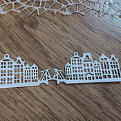 Материалы для творчества handmade. Livemaster - original item !Cutting for scrapbooking - CITY, HOUSES, BRIDGES, LODGES, diz cardboard. Handmade.