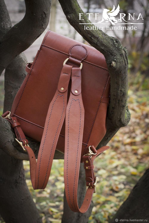 269a8e6d8426 Рюкзак женский авторский ручной работы из натуральной кожи. Изделия из кожи  ...