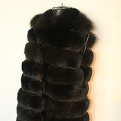 Одежда handmade. Livemaster - original item Fur vest from the Scandinavian Arctic Fox brown. Handmade.