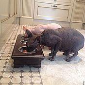 Для домашних животных, ручной работы. Ярмарка Мастеров - ручная работа Подставка под миски.. Handmade.