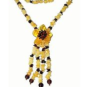 Работы для детей, handmade. Livemaster - original item beads: Amber jewelry beads pendants natural stone. Handmade.