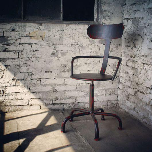 Мебель ручной работы. Ярмарка Мастеров - ручная работа. Купить стул с регулируемой высотой.. Handmade. Стул, лофт, сталь