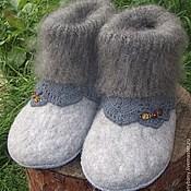 """Обувь ручной работы. Ярмарка Мастеров - ручная работа Тапочки """" Пуховые """". Handmade."""