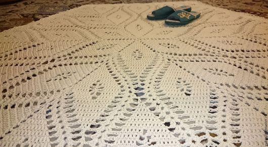 Текстиль, ковры ручной работы. Ярмарка Мастеров - ручная работа. Купить Ковер из хлопковой нити. Handmade. Бежевый, ковер
