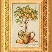 Картины и панно handmade. Livemaster - original item Orange tree. Hand embroidery cross. Handmade.