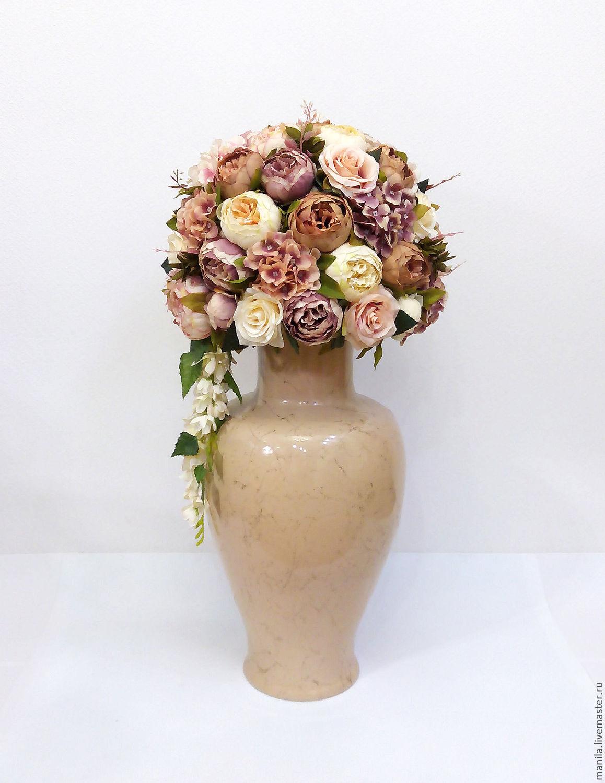 Цветы в вазе своими руками из искусственных цветов 937