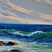 Картины и панно handmade. Livemaster - original item Oil painting. Sea. Seascape.. Handmade.
