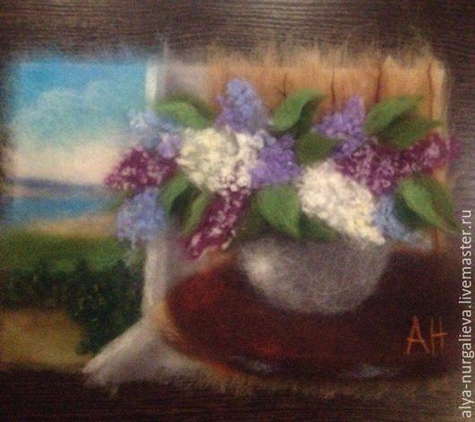 Картины цветов ручной работы. Ярмарка Мастеров - ручная работа. Купить Весенняя отрада. Handmade. Фиолетовый, картина для интерьера, цветы
