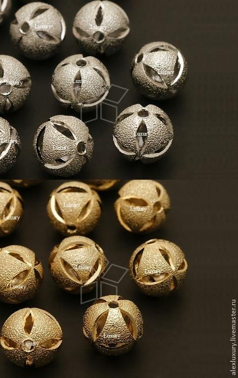 Для украшений ручной работы. Ярмарка Мастеров - ручная работа. Купить Оба покрытия!!! Бусина полая, 12мм, Ю.Корея. Handmade.