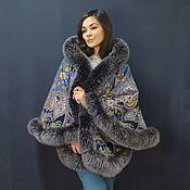 Одежда handmade. Livemaster - original item Poncho made of a shawl