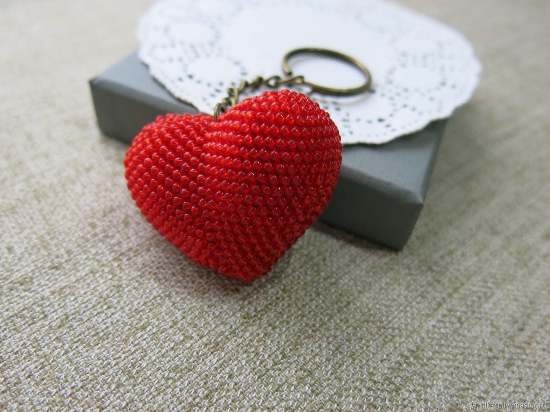 Key chain Heart bead, Key chain, Zheleznodorozhny,  Фото №1