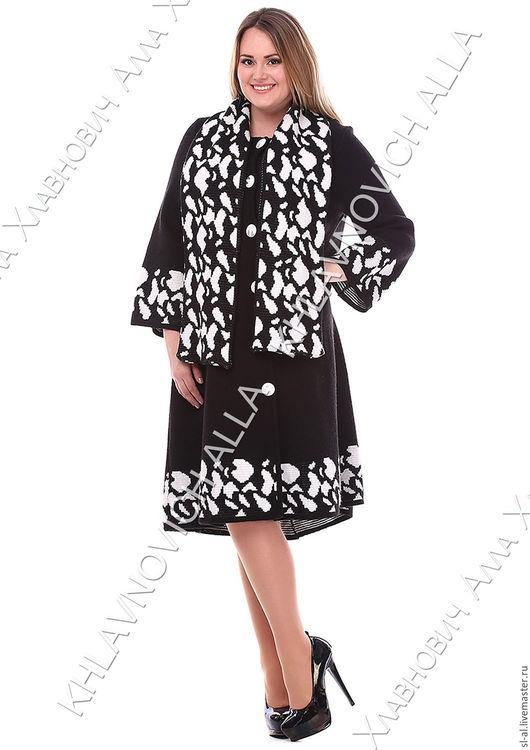 """Верхняя одежда ручной работы. Ярмарка Мастеров - ручная работа. Купить Пальто """"Африканское"""" Модель №427. Handmade. Чёрно-белый"""