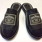 """Обувь ручной работы. Ярмарка Мастеров - ручная работа Кожаные тапочки """" Джек Дениалс""""-black. Handmade."""