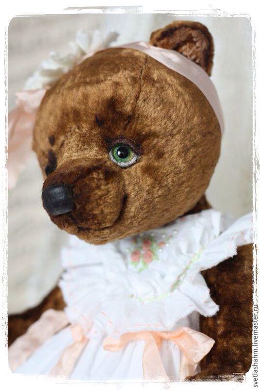 Мишки Тедди ручной работы. Ярмарка Мастеров - ручная работа. Купить Милаша. Handmade. Коричневый, подарок, глаза стеклянные
