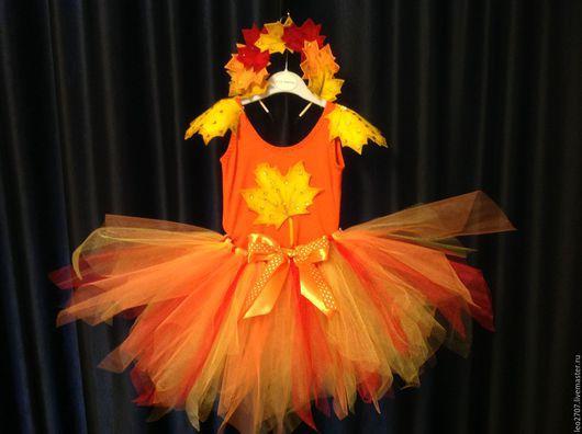 """Детские карнавальные костюмы ручной работы. Ярмарка Мастеров - ручная работа. Купить Карнавальный костюм """"Осень"""". Handmade. Рыжий, осень"""
