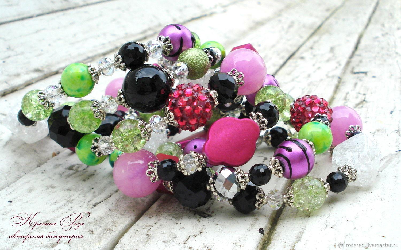 Bracelet 'Hypnosis', Bead bracelet, Stupino,  Фото №1