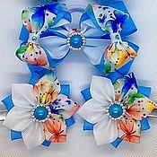 Работы для детей, handmade. Livemaster - original item A set of spring bows Kanzashi. Handmade.