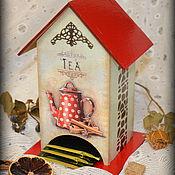 """Для дома и интерьера ручной работы. Ярмарка Мастеров - ручная работа Чайный домик """"Ретро"""". Handmade."""