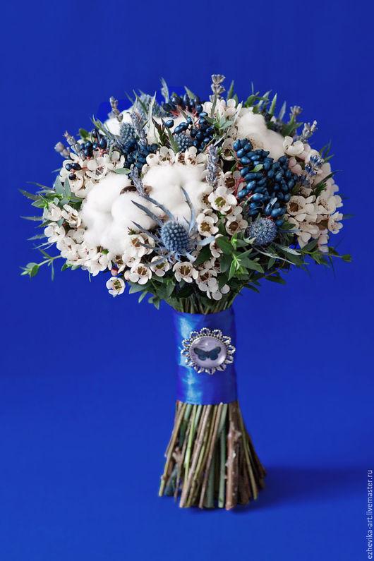 Свадебные цветы ручной работы. Ярмарка Мастеров - ручная работа. Купить Букет невесты / Синий свадебный букет. Handmade.