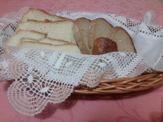 Кухня ручной работы. Ярмарка Мастеров - ручная работа. Купить Салфетка кружевная для хлебницы. Handmade. Коклюшечное кружево, салфетка