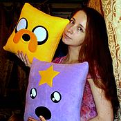 Для дома и интерьера ручной работы. Ярмарка Мастеров - ручная работа Adventure Time подушки. Handmade.
