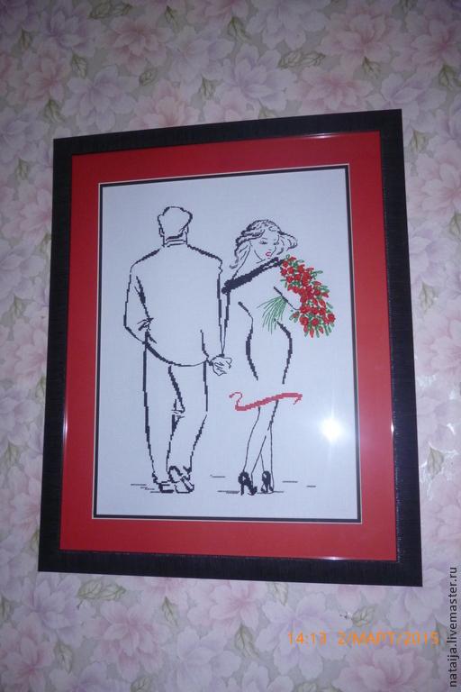Люди, ручной работы. Ярмарка Мастеров - ручная работа. Купить Романтическая пара. Handmade. Разноцветный, букет, багет